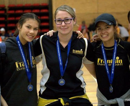 2017 Easter Tournament- Emily, Shannon, Coach Nicola, Christina & Baniko