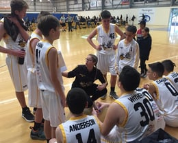 2018 Melbourne- U14 Boys team talk vs Mornington